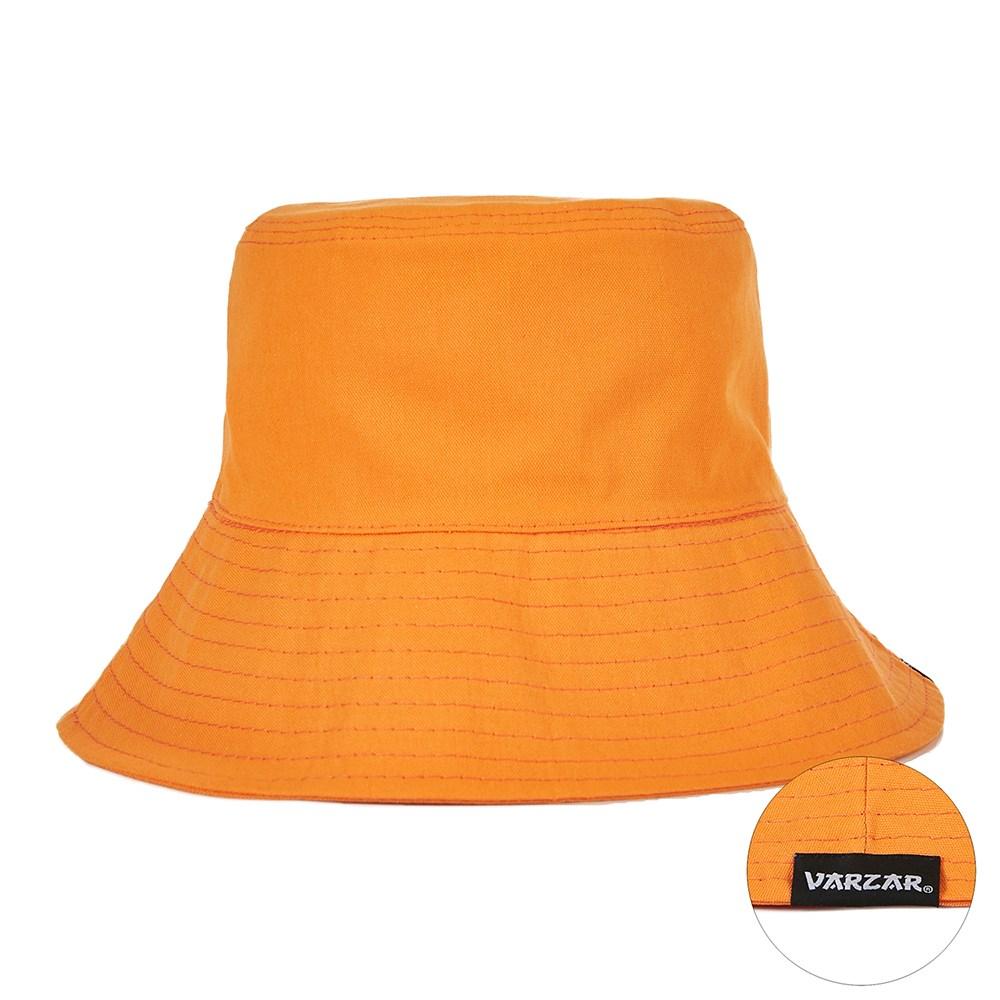 (바잘) 와이드 브림 논워싱 버킷햇 오렌지