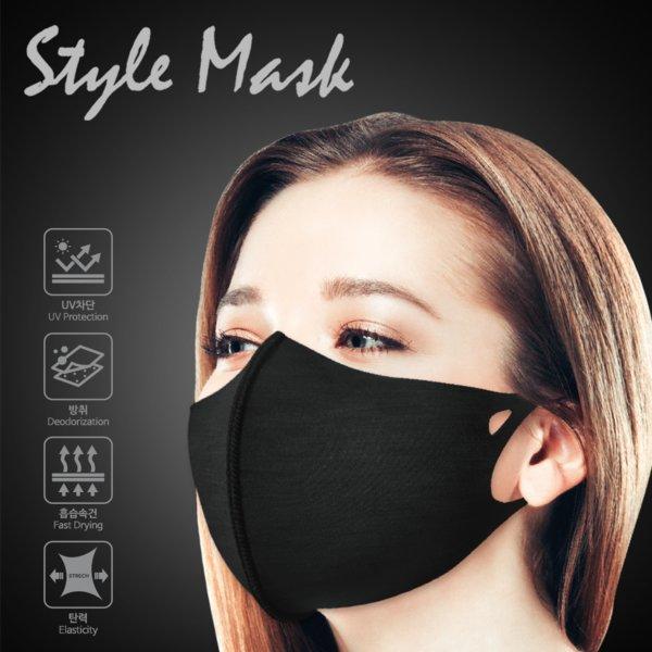 이지스 스타일 마스크 1개 3D입체마스크-블랙-L