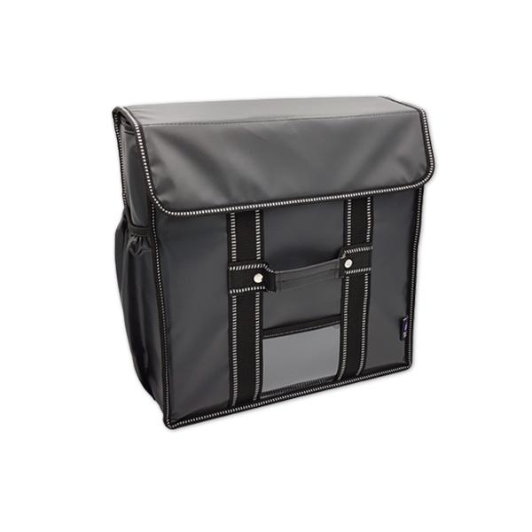 카멜레온 바스켓 15인치 피자보온가방 방수Ver_3판용 배달가방, 블랙