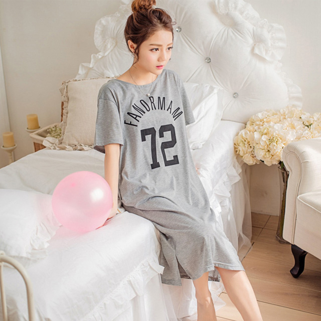 마쿠쿠 72 보카 여성 반팔 롱 티셔츠 홈웨어 원피스 잠옷