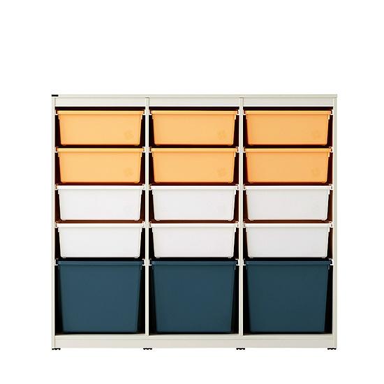 한샘 샘키즈 스칸디 에디션 수납장 1305, 색상(몸통/박스):C형:(몸통)크림화이트/(박스)옐로우네이비(C)