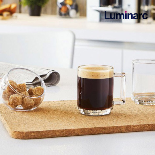 루미낙 카페 유리 머그컵 커피잔 내열강화, 09. 피트니스 머그컵 320ml 2P세트