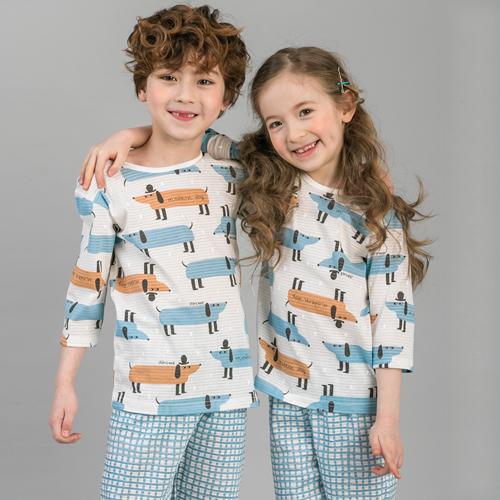 캐릭모아키즈 쟈가드 7부 유아 아동 주니어 내복 내의 실내복 잠옷 멋쟁이도그
