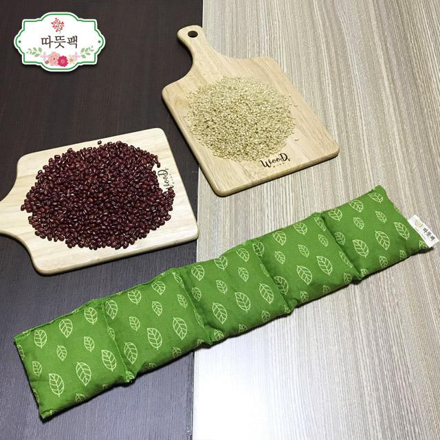 따뜻팩 [어깨] 100% 천연 팥찜질팩 폴리지 그린-팥, 1개