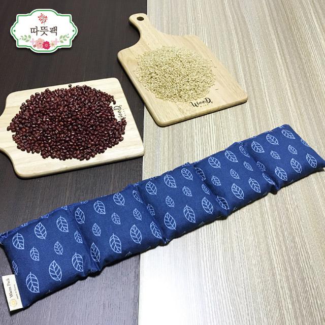 따뜻팩 [어깨] 100% 천연 팥찜질팩 폴리지 블루-팥, 1개