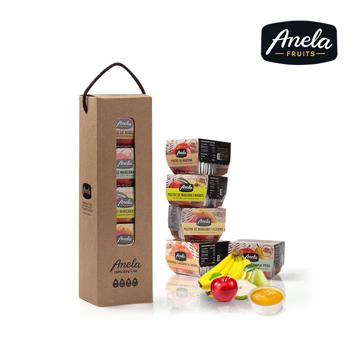 아넬라 아기 이유식퓨레 5팩 기프트세트(10개입&선물포장) 과일퓨레, 아넬라 5팩 기프트세트 시작과일A