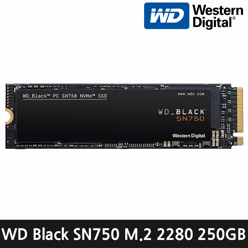 WD Black 3D M.2 SN750 2280 SSD