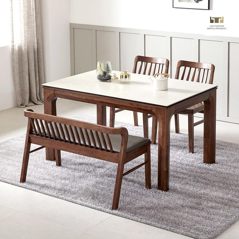 루쏘퍼니쳐 아셀 1300~1700 세라믹식탁 세트 4인용식탁 6인용식탁 식탁, 아셀 4인 세라믹식탁 벤치형