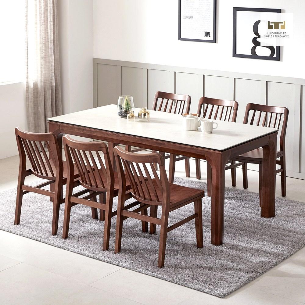 루쏘퍼니쳐 아셀 1300~1700 세라믹식탁 세트 4인용식탁 6인용식탁 식탁, 아셀 6인 세라믹식탁 의자형