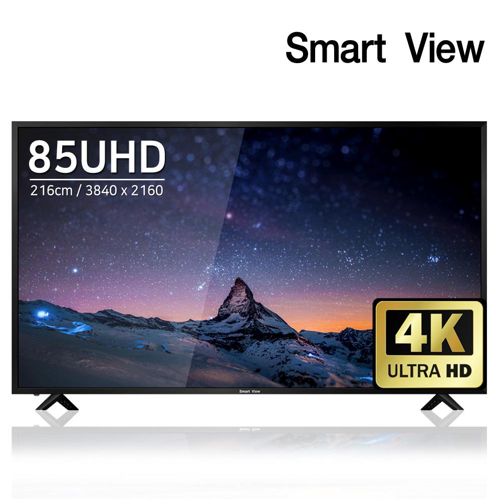 스마트뷰 J85PE UHD 4K TV 전국 AS 방문설치, 01.스텐드형(기사방문 TV 테스트)