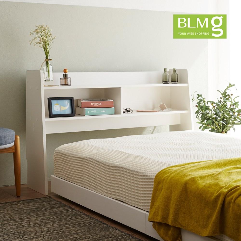 블루밍홈 아비오침대헤드보드 침대, 화이트