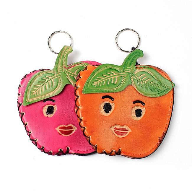 (1개) 사과 동전지갑, 단일 수량