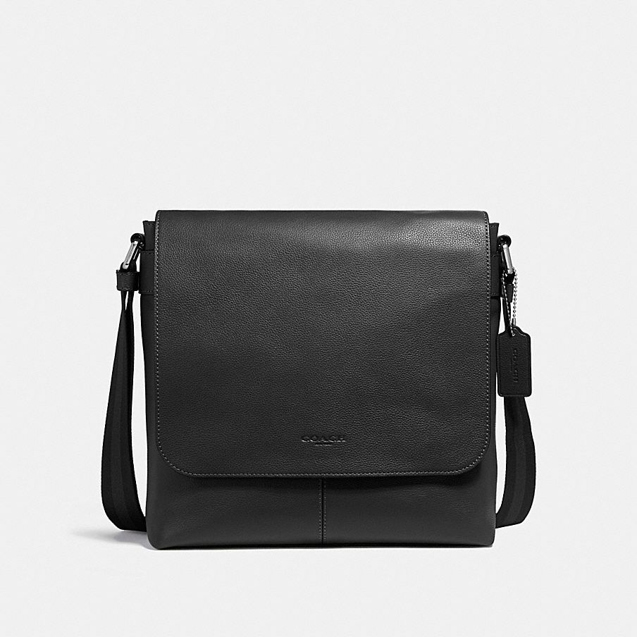 코치 [HAPPYNY] COACH_ 28576 CHARLES MESSENGER BAG (BLACK)