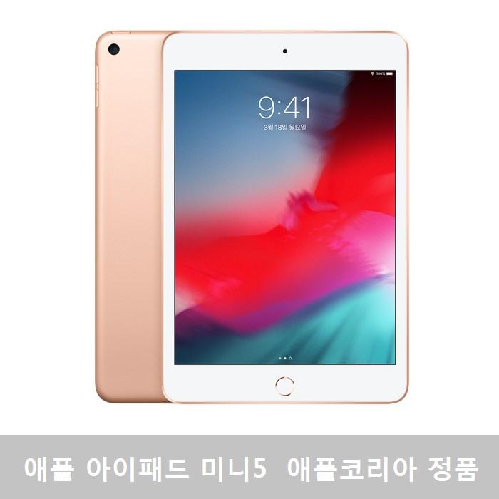 애플 아이패드 미니 5세대 WIFI + Cellular 256GB 골드, MUXE2KH/A