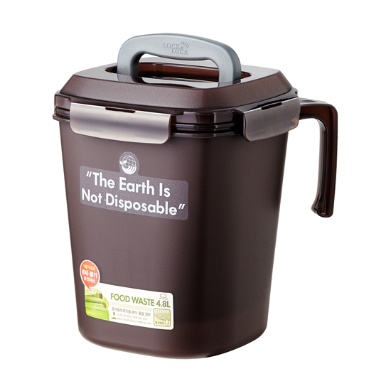 락앤락 음식물쓰레기통 4.8ℓ 브라운 _LDB500