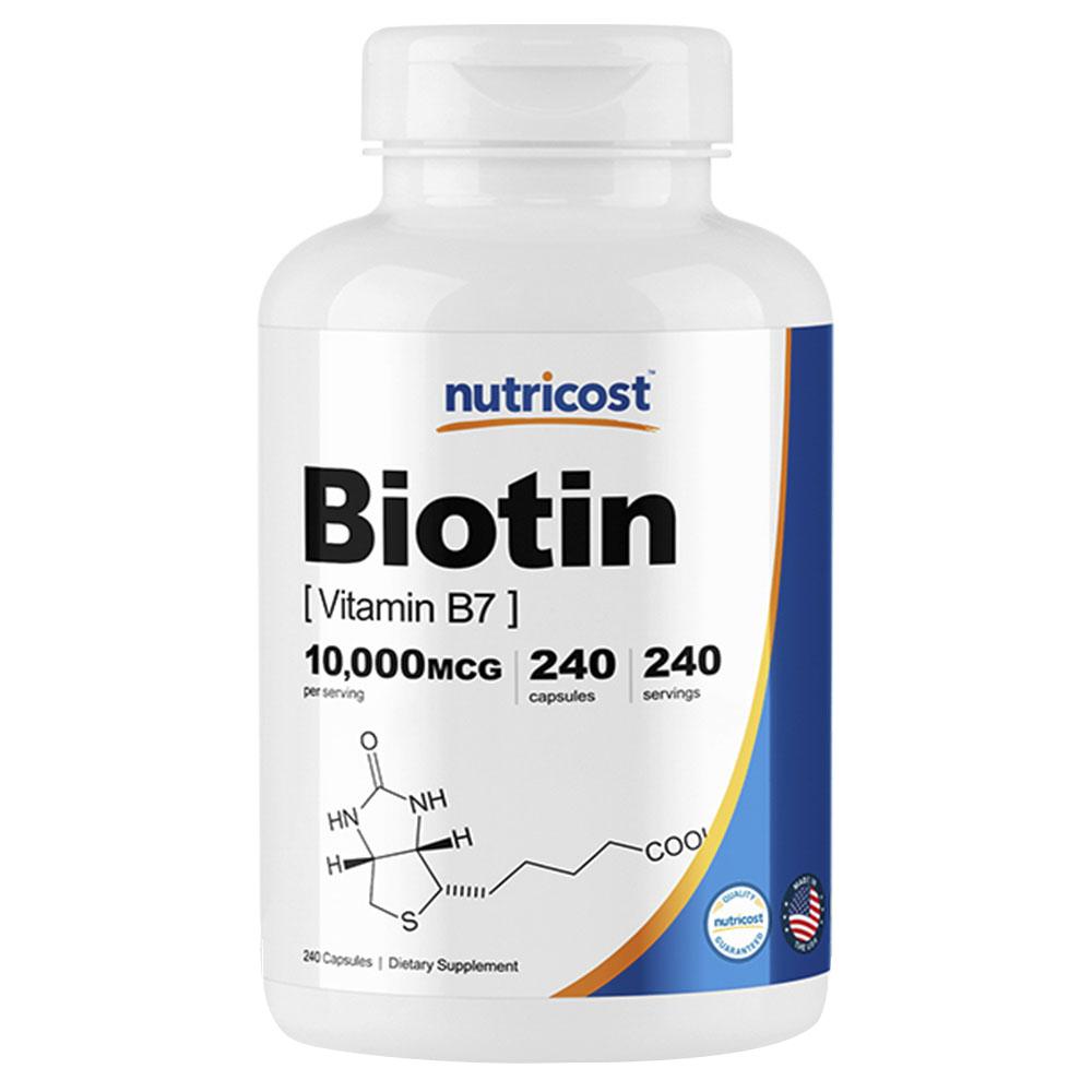 뉴트리코스트 비오틴 비타민 B7 10000mcg 캡슐, 240개입, 1개