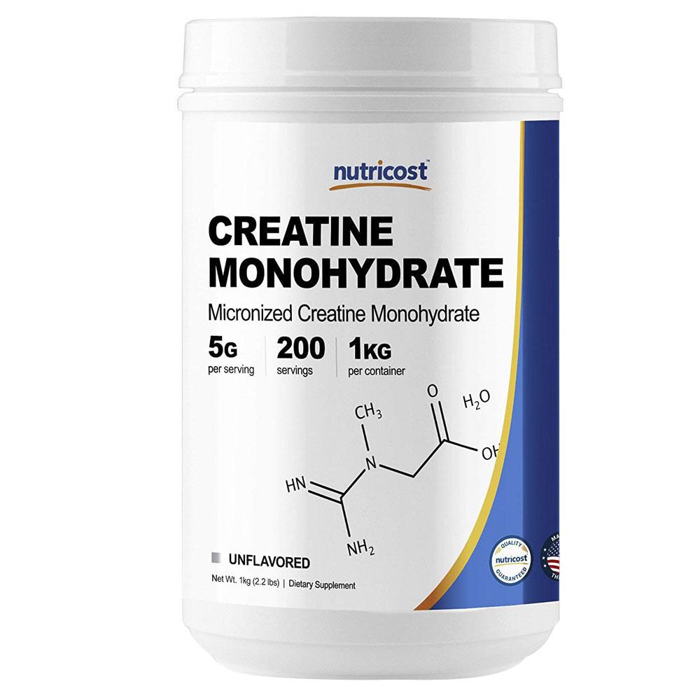 Nutricost 마이크로나이즈드 크레아틴 모노하이드레이트, 1kg, 언플레이버드(Unflavored)