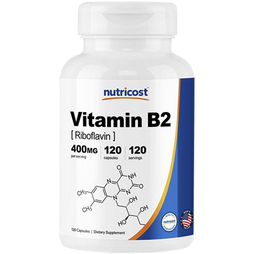 뉴트리코스트 비타민 B2 리보플라빈 400mg 캡슐, 120개입, 1개