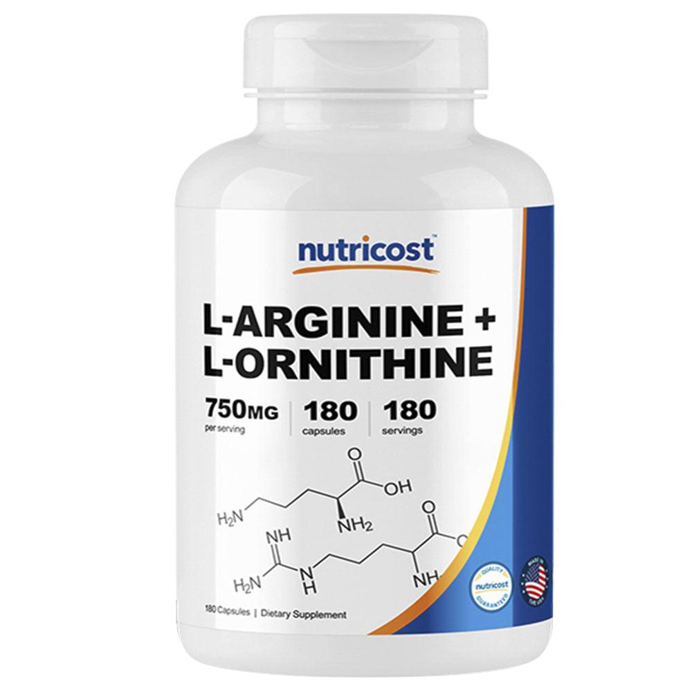 뉴트리코스트 L-아르기닌 + L-오르니틴 750mg 캡슐, 1개