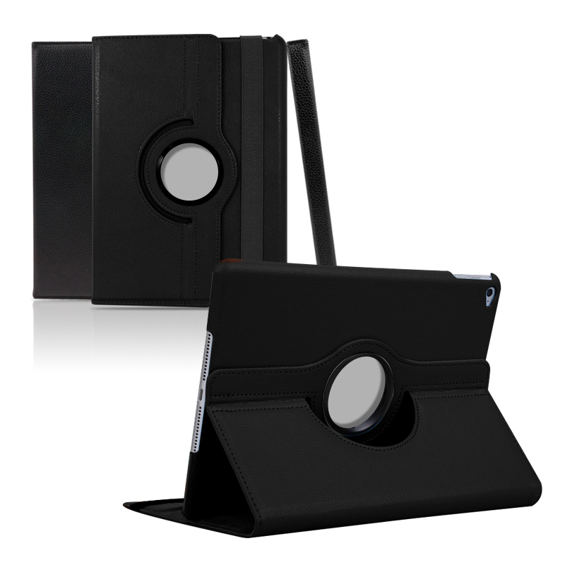 UBacc 아이패드 4세대 필수 액세서리 모음전 A1458 A1459 A1460, 08. 크로스 레더 케이스 블랙