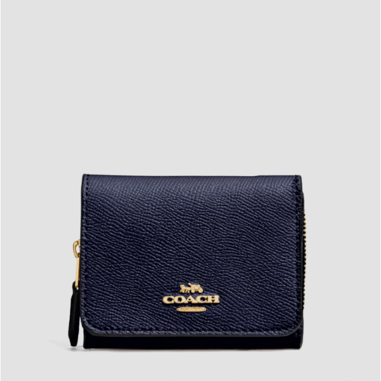 코치 [HAPPYNY] COACH_ 37968 SMALL TRIFOLD WALLET (MIDNIGHT)