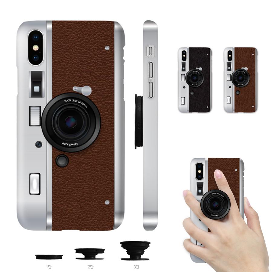 갤럭시A퀀텀 케이스 클래식카메라 그립톡 스마트톡 휴대폰 하드 SM-A716