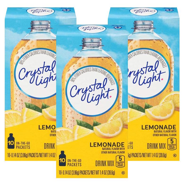 Crystal Light 드링크 믹스 레몬에이드 10개입, 39.6g, 3개