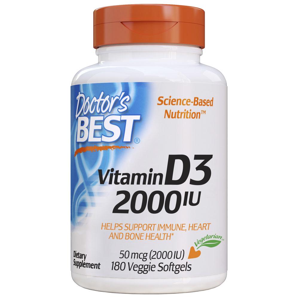 닥터스베스트 비타민 D3 2000IU 베지 소프트젤, 180개입, 1개
