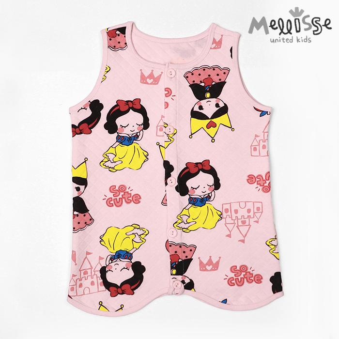 멜리스 유아 아동 사과소녀 수면조끼 겨울 잠옷
