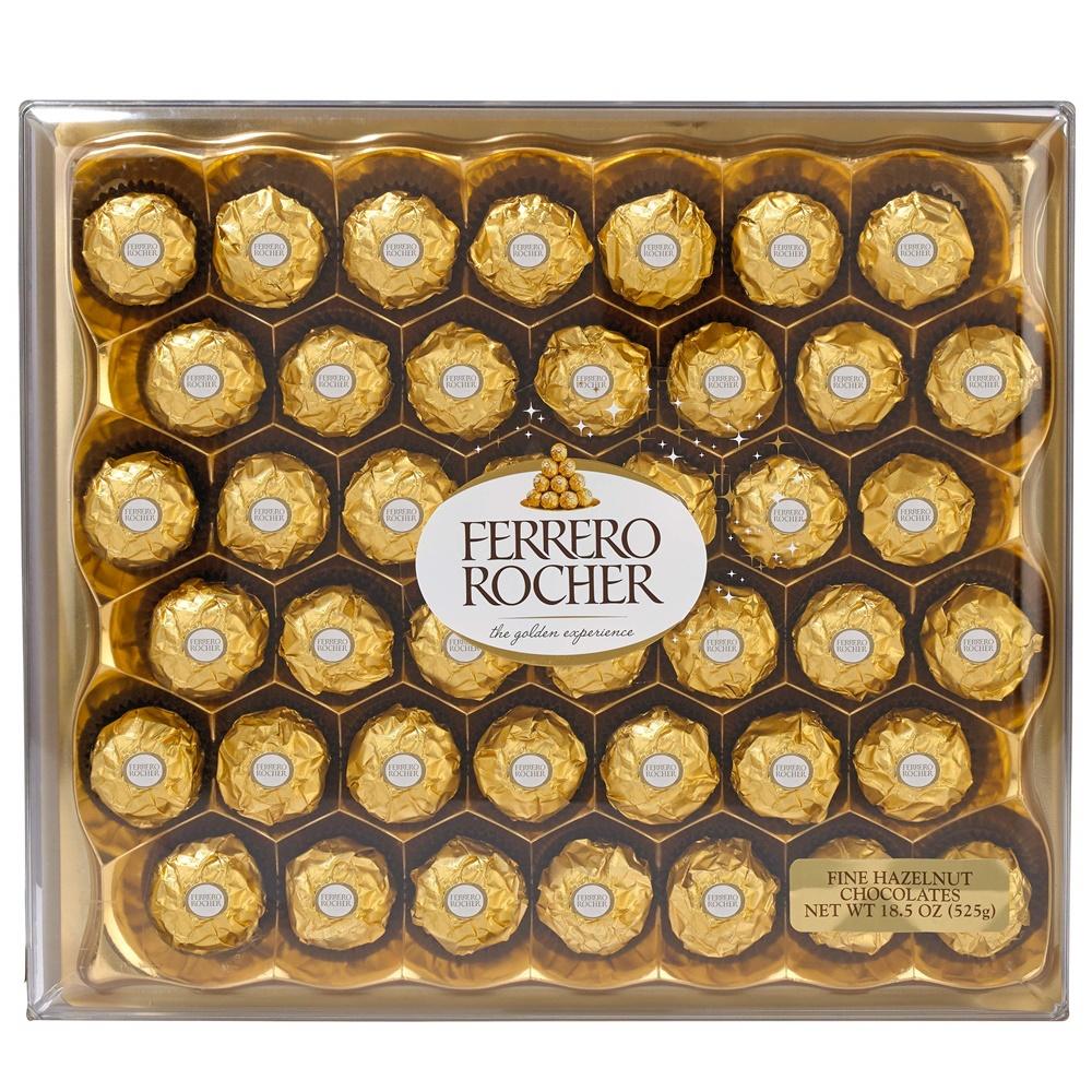 Ferrero Rocher 페레로로쉐 파인 헤이즐넛 밀크 초콜릿 42개입 초콜릿 캔디 선물 박스, 1개
