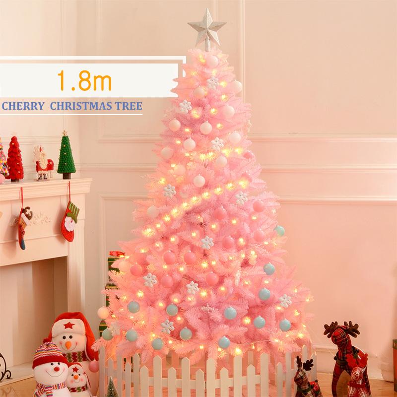 쥬베스 크리스마스트리 핑크 트리 풀세트, 핑크 1.8M