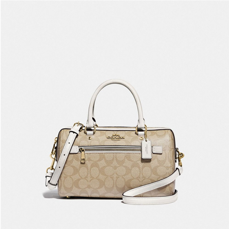 코치 [HAPPYNY] COACH_ F83607 ROWAN SATCHEAL BAG (KHAKI CHALK)