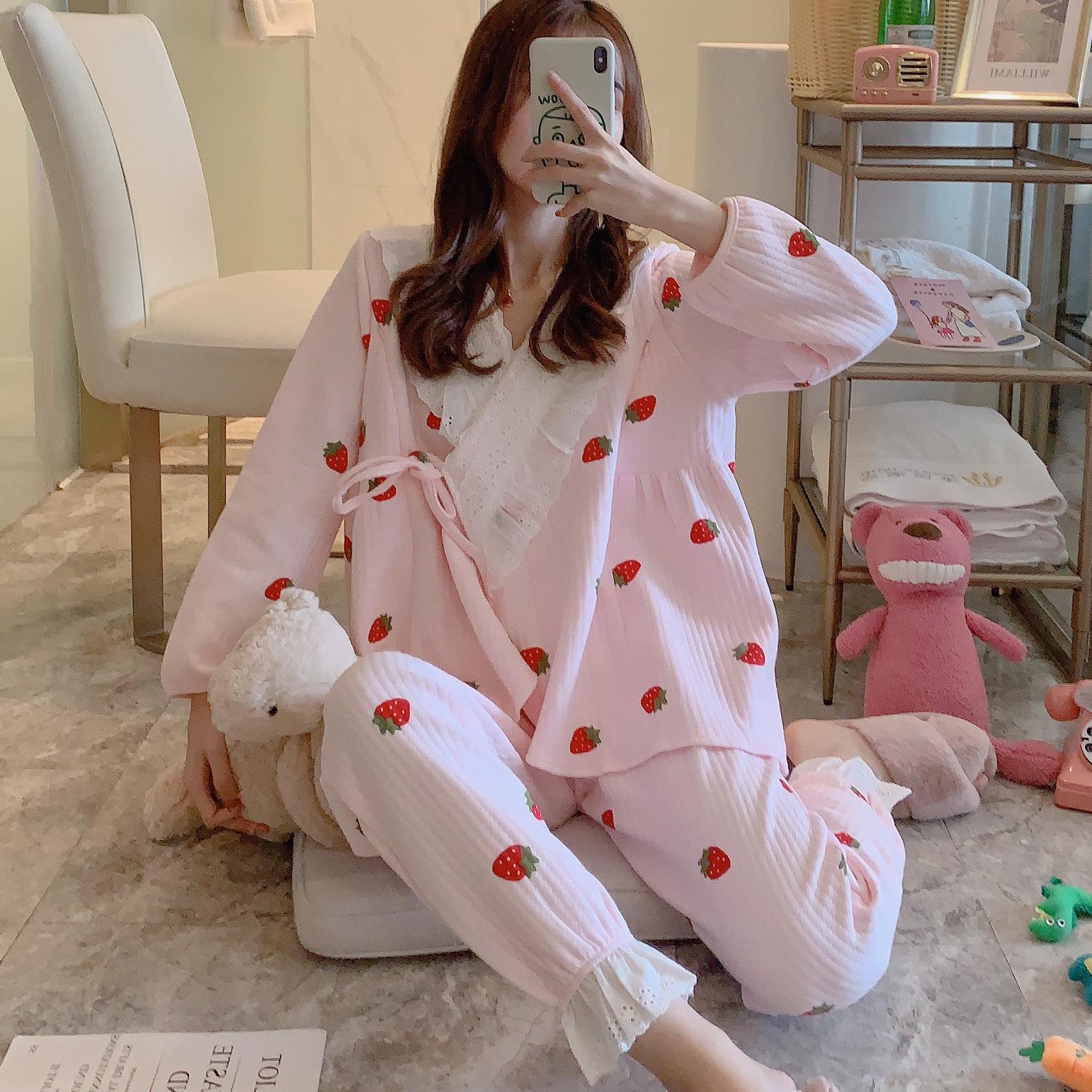 엘앤엘 긴팔 수유복 세트 수유 잠옷 임산부